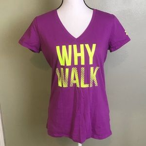 Under Armour Purple Why Walk Semi-Fitted T-Shirt M